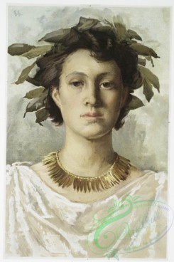 prang_cards_women-00031 - 1052-Roma (portrait, with garland of leaves) 100215