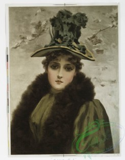prang_cards_women-00039 - 1111-Prints entitled 'winter girl' and 'summer girl.' 100407