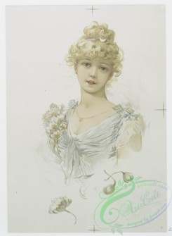 prang_cards_women-00046 - 1163-Valentines and Christmas cards depicting flowers and portraits of women 100583