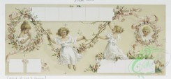 prang_cards_women-00049 - 1220-Calendar and Christmas card depicting girls, flowers and ribbon, 'The four beauties'-a series of portraits entitled 'Seraphine,' 'Angeline,' 'Cor 100881
