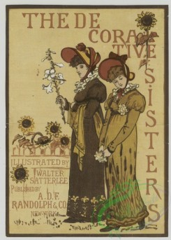 prang_cards_women-00083 - 1519-(A trade card depicting women and flowers including sunflowers.) 102190