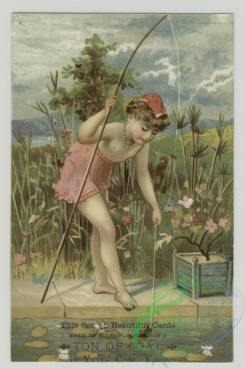 prang_cards_women-00084 - 1521-Trade cards depicting fishing, lily pads, and ocean landscapes 102202