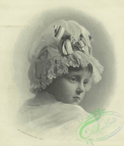 prang_cards_women-00088 - 1541-Trade cards depicting holly, flowers and a portrait of a child 102281