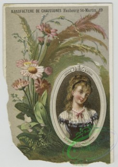 prang_cards_women-00093 - 1566-Trade cards depicting flowers, plants and framed portraits of women 102397