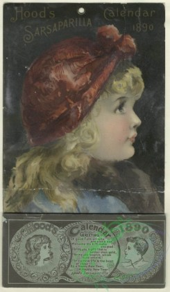 prang_cards_women-00099 - 1590-(An 1890 Calendar and trade card depicting a young girl's profile.) 102520