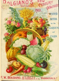 seeds_catalogs-00072 - 072-Harvest vegetables, Corn, carrot, watermelon, cabbage, pumpkin, fruits [3494x4727]