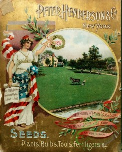 seeds_catalogs-07970 - 023-Woman in USA flag color dress, Round Frame