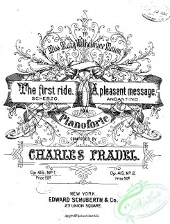 sheet_music_covers-06646 - First ride, The (from) New instructive pieces_ct1882.15160