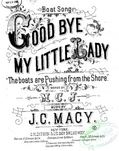sheet_music_covers-07940 - Good bye, my little lady, The Boats are pushing from the shore_ct1885.14630