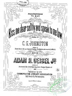 sheet_music_covers-10458 - Kiss me dear softly, and speak to me low_ct1876.12063