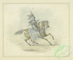 sporting-00064 - 076-Knight in armor with mace, mounted on horse