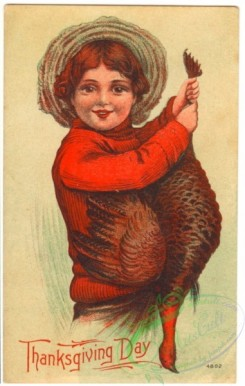 thanksgiving_day_postcards-00004 - 004-Thanksgiving Day, boy with turkey [1905x3000]