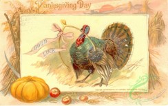 thanksgiving_day_postcards-00019 - 019-Good luck, Turkey, Pumpkin, Harvest [3000x1890]