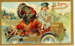 thanksgiving_day_postcards-00022 - 022-Kid driving car, Turkey, Vegetables, fruits [3000x1853]