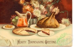 thanksgiving_day_postcards-00024 - 024-Dinner, Hearty Thanksgiving Greetings, table, pie [3000x1913]