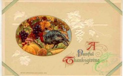 thanksgiving_day_postcards-00027 - 027-Turkey. Oval, A peaceful Thanksgiving [3000x1846]