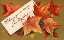 thanksgiving_day_postcards-00030 - 030-Leaves, Wishing you a happy Thanksgiving, letter [3000x1888]