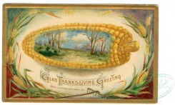 thanksgiving_day_postcards-00031 - 031-Corn frame, Glad Thanksgiving Greeting [3000x1800]
