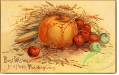 thanksgiving_day_postcards-00032 - 032-Pumpkin, Apple, Corn, Best wishes for a happy Thanksgiving [600x376]