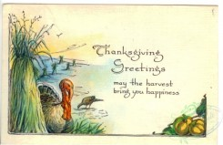 thanksgiving_day_postcards-00047 - 047-Turkey, Sheaf, may the harvest bring you happiness [3000x1948]