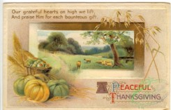 thanksgiving_day_postcards-00079 - 079-Harvest, vegetables, wheat, Our grateful hearts on high we lift... [3000x1924]