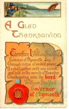 thanksgiving_day_postcards-00110 - 110-Hunter, scroll, letter, a Glad Thanksgiving [1926x3000]