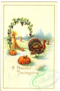 thanksgiving_day_postcards-00152 - 152-Turkey, Arch, Peaceful Thanksgiving [1972x3000]