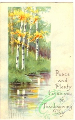 thanksgiving_day_postcards-00153 - 153-Birch, River, Peace and Plenty I wish you on Thanksgiving Day [1891x3000]