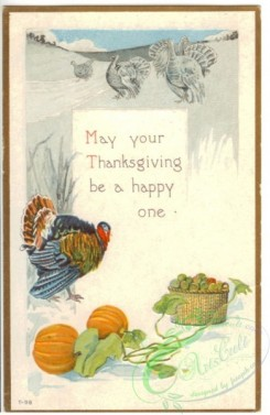 thanksgiving_day_postcards-00160 - 160-Turkey, Basket, pumpkin, May your Thanksgiving be a happy one [1951x3000]