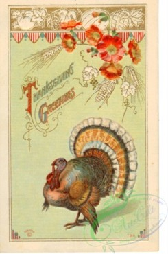 thanksgiving_day_postcards-00221 - 221-Turkey, flowers [1988x3000]