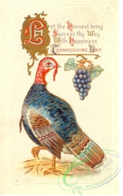thanksgiving_day_postcards-00224 - 224-Turkey, Let the harvest bring success thy way with happiness [1880x3000]