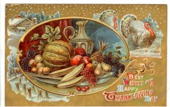thanksgiving_day_postcards-00291 - 291-Oval frame, fruits, Best wishes for a happy Thanksgiving day [3000x1902]
