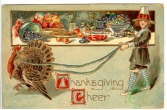 thanksgiving_day_postcards-00300 - 300-Turkey, Girl, table, dinner [3000x1978]