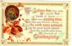 thanksgiving_day_postcards-00332 - 332-Turkey, leaves, Autumn-time has come, On woods that dream.... [3000x1903]