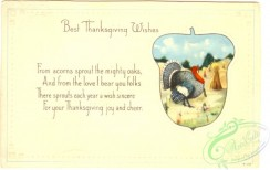 thanksgiving_day_postcards-00333 - 333-Turkey, acorn, From acorns sprout the mithy oaks, and from love I bear you folks... [3000x1891]