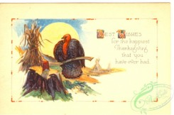thanksgiving_day_postcards-00375 - 375-Turkey, axe, Best wishes for the happiest... [3000x1980]