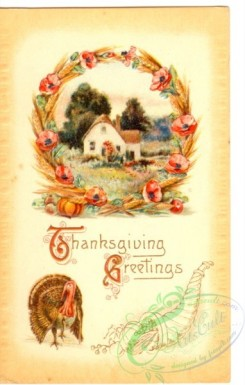 thanksgiving_day_postcards-00378 - 378-Frame, flowers, wheat, Turkey [1910x3000]