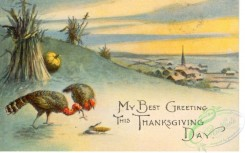 thanksgiving_day_postcards-00447 - 447-Turkey, My best Greeting this Thanksgiving day [3000x1875]