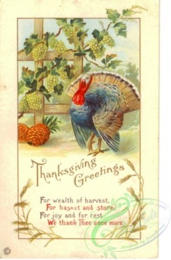 thanksgiving_day_postcards-00453 - 453-Turkey, Grapes, For wealth of harvest, For basket and store [1973x3000]
