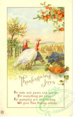 thanksgiving_day_postcards-00454 - 454-Turkey, Apple, For nuts and pears and Apples, For everything we need... [1926x3000]