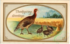 thanksgiving_day_postcards-00459 - 459-Turkey, nestlings, wheat field [3000x1868]