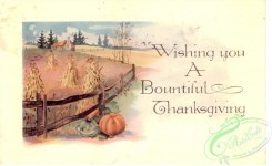 thanksgiving_day_postcards-00464 - 464-Sheaf, field, fence, Pumpkin, Wishing you a beautiful Thanksgiving [3000x1838]