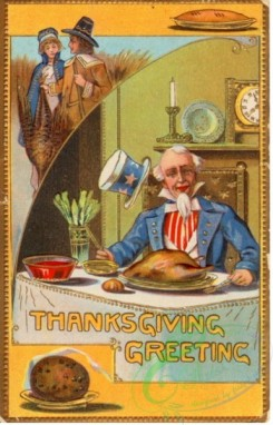 thanksgiving_day_postcards-00472 - 472-Uncle Sam, table, hunters, dinner [1926x3000]