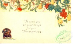 thanksgiving_day_postcards-00490 - 490-Turkey, Apple, To wish you all good things... [3000x1819]