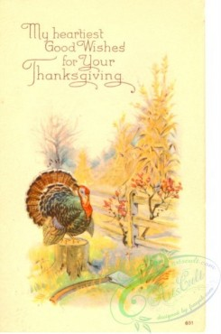 thanksgiving_day_postcards-00506 - 506-Turkey, axe, My heartiest good wishes for your Thanksgiving [1988x3000]