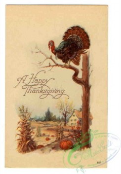 thanksgiving_day_postcards-00546 - 546-Turkey, Pumpkin, tree [2080x3000]