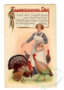 thanksgiving_day_postcards-00550 - 550-Woman, Turkey, I wish that I might grasp... [2159x3000]