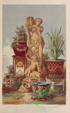 things-00166 - 001-Terra cotta figure of Galatea , group of majolica garden vases, by Minton of Stoke-upon-Trent
