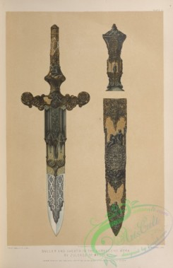 things-00204 - 067-Dagger and sheath in the Damascene work, by Zuloago of Madrid