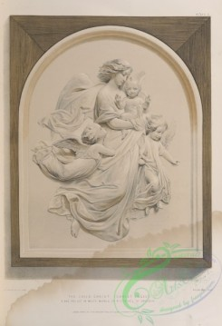 things-00205 - 069-The child Christ (''Christ Engel'') a bas relief in white marble by Rietschel of Dresden